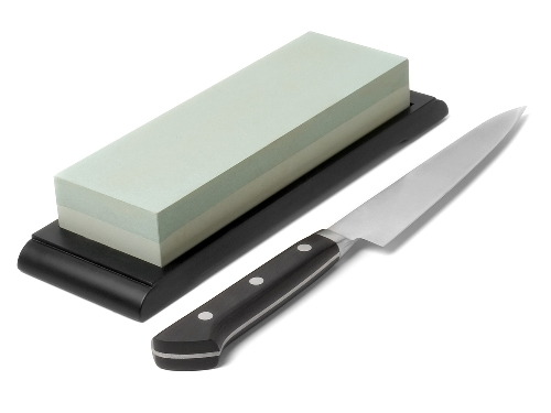 Kitchen knife and sharpening stone